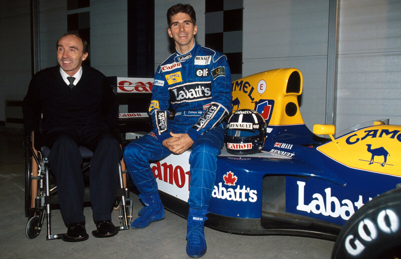 DAMON HILL CHAMP WITH FRANK