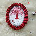 Médaillon arbre rouge conte d'hiver Marimerveille