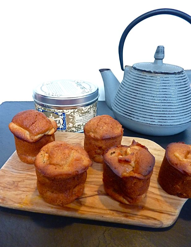 Muffins pommes cardamome au sirop d'agave