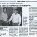 Action de solidarité à saint pierre