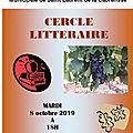 Cercle littéraire octobre 2019