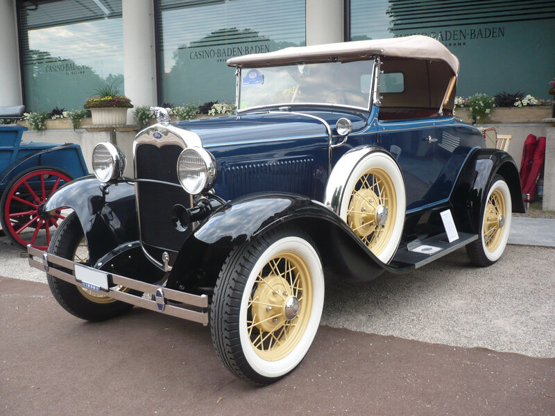 FORD Model A Deluxe roadster 1930 Baden Baden (1)