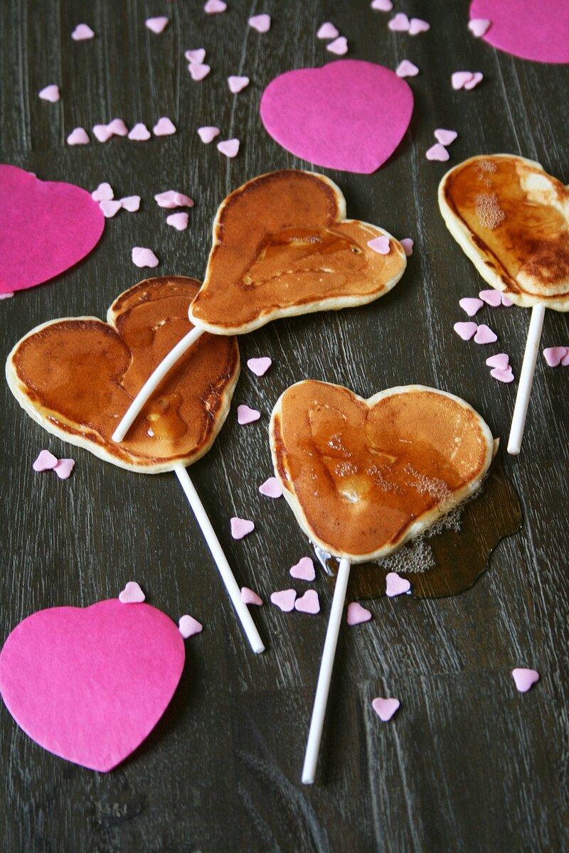 pancakes pops en forme de coeur saint valentin 2