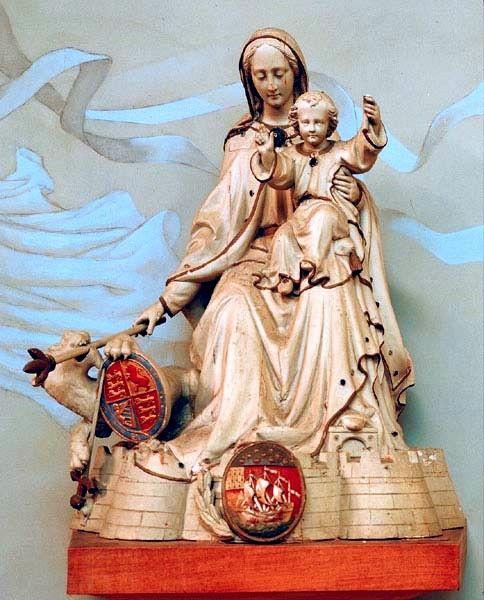 Lorient, Eglise ND de la Victoire, statue de ND