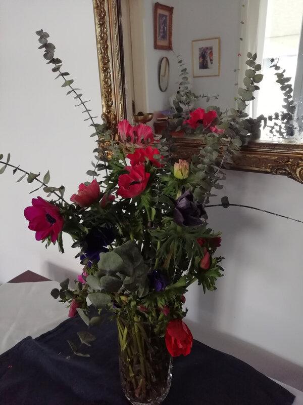 bouquet d'anémones janvier 2020