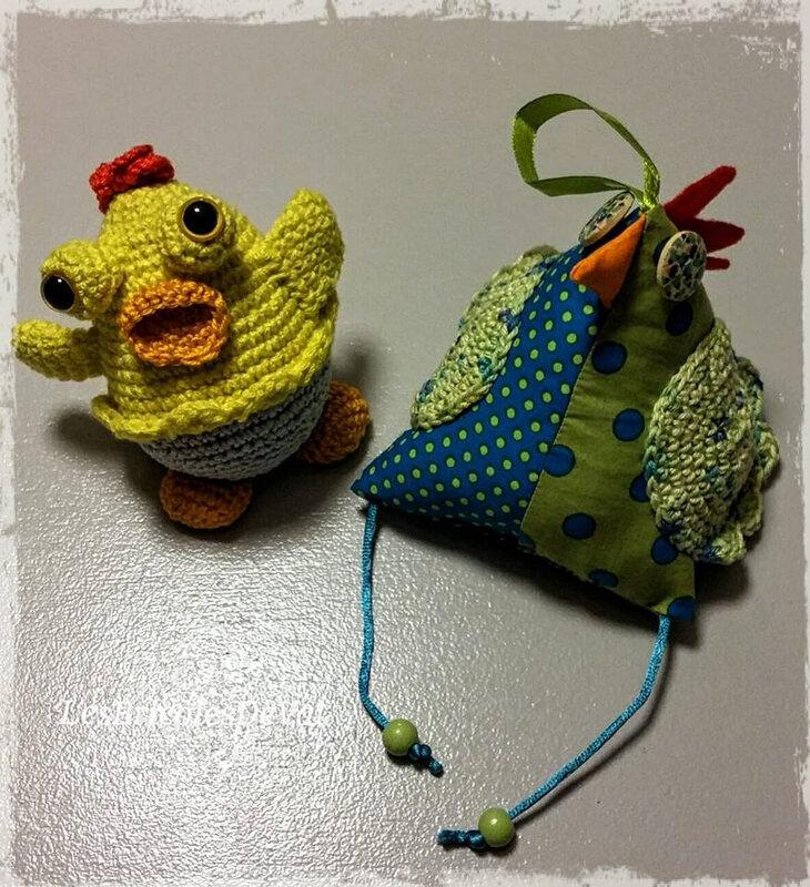 coin coin et poulet au crochet