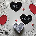 ♥ ♥ ♥ petits coeurs ardoise pour mots doux ♥ ♥ ♥ (sans peinture)