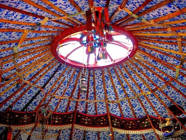 plafond de la yourte