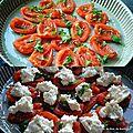Tatin de tomates au chèvre et tapenade d'olives noires