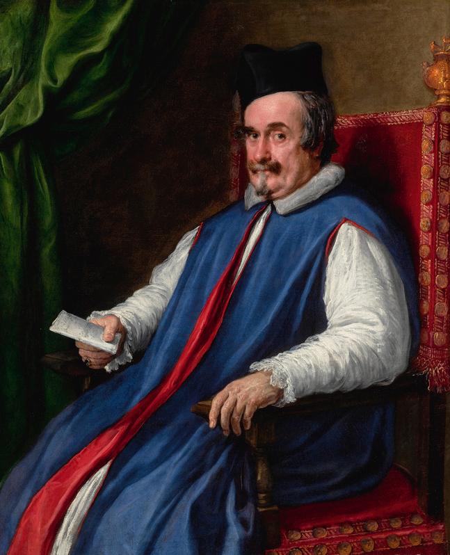 Diego Rodríguez de Silva y Velázquez and Pietro Martire Neri, Portrait of Monsignor Cristoforo Segni (D