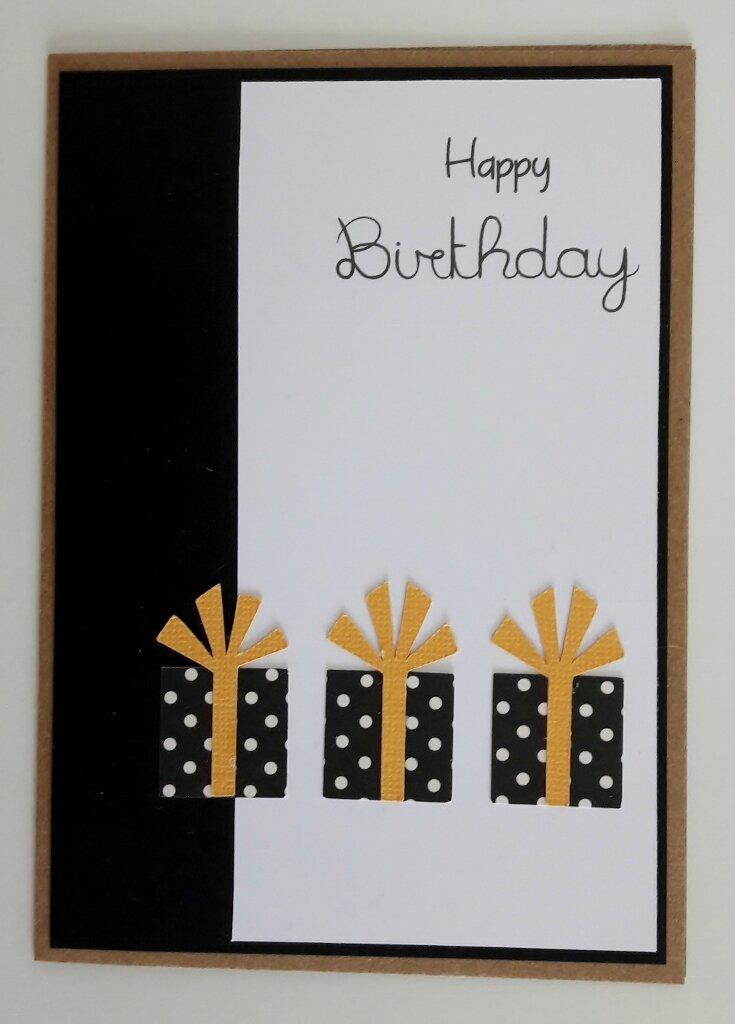 """Carte d'anniversaire """"Cadeaux""""..."""