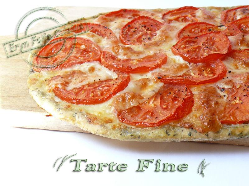 Tarte Fine Basilic Tomates Mozzarella Eryn Et Sa Folle Cuisine