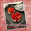Tartelette façon cheesecake citron menthe (mojito) & gariguettes