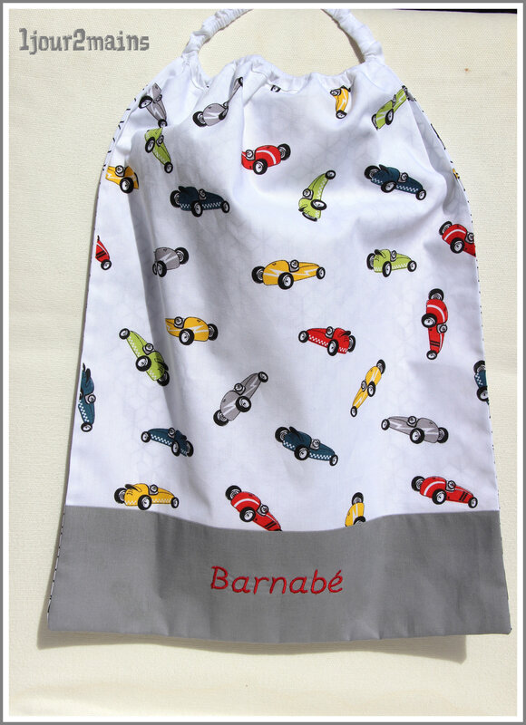 serviette cantine Barnabé voiture