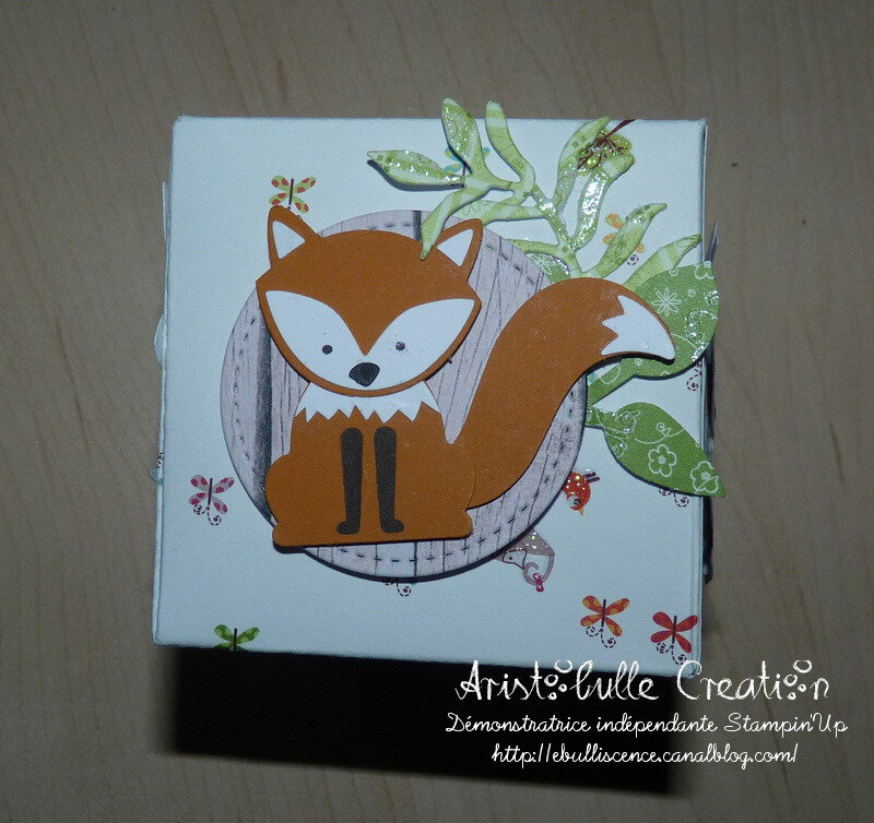 Carte cube pop up Foxy friends - face renard