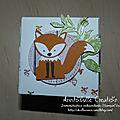 Carte cube pop up Foxy friends - face renard