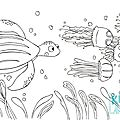 8_coloriage_tortue_meduses