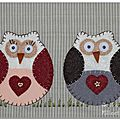 ♥ mr and mrs hibou....... bien au chaud dans la maison ♥