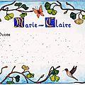 poème pour Marie-Claire