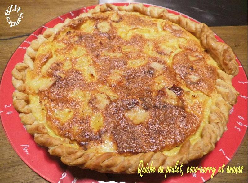 1019 Quiche poulet coco-curry et ananas 1