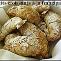 Petits croissants à la frangipane