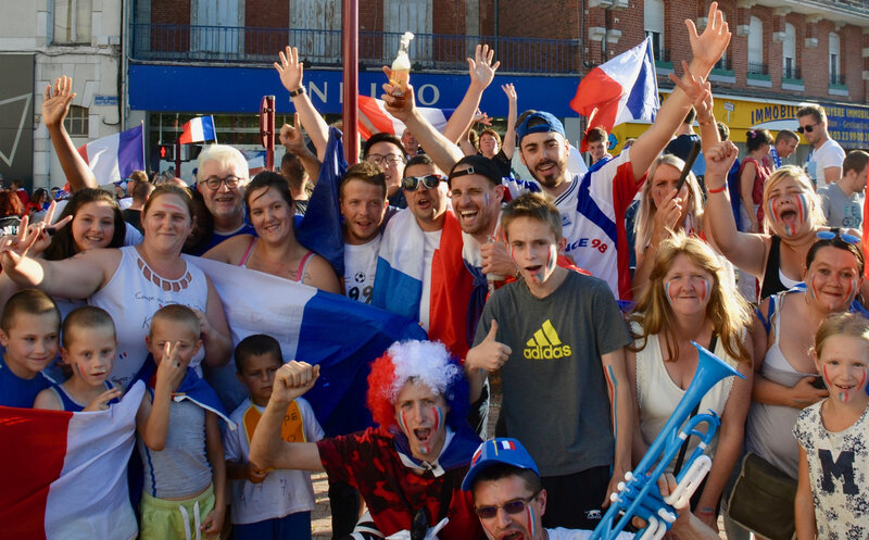 COUPE DU MONDE 2018 FRANCE CROATIE fans JJT