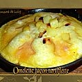 Omelette façon tartiflette