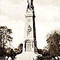 Glageon - l'inauguration du monument aux morts
