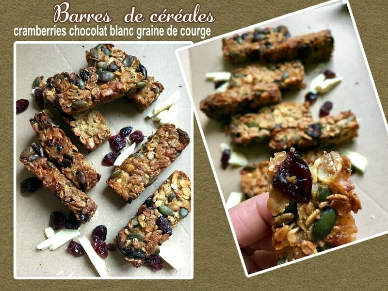 Barres de céréales cramberries chocolat blanc (SCRAP)