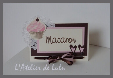 marque table pour mariage cup cake
