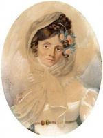 Maria Szymanowska, pianiste et compositrice, miniature de Zofia Woïno, 1816