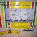 Cadre multicolore en carton