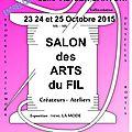 Salon des arts du fil de la valette du var (83), dédicaces et démo