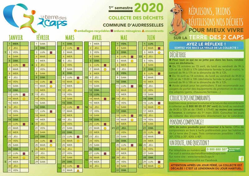 calendrier collecte S1