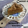 Carrot-cake à la betterave sucrière et sarrasin