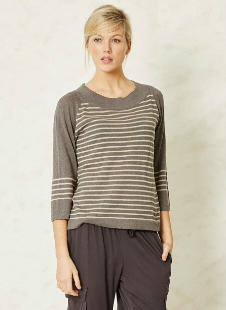 pull sail-la-vie-striped-grey