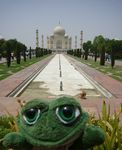 Photo de brOOky devant le Taj Mahal