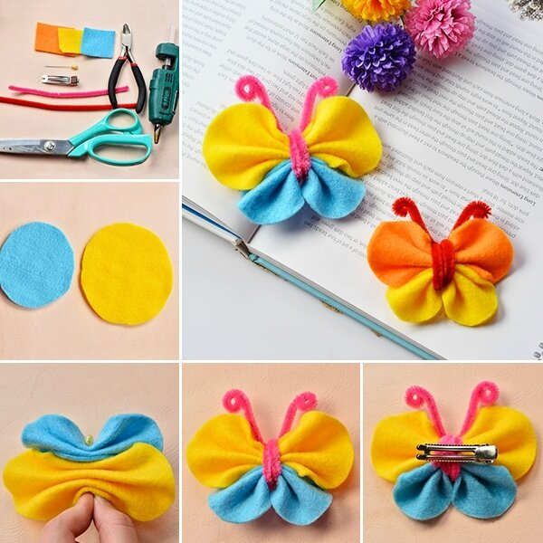 600-DIY-Hair-Ornaments-–-How-to-Make-Lovely-Felt-Butterfly-Hair-Clip-for-Kids
