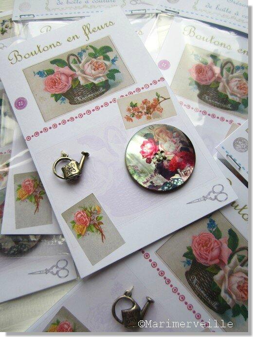 Boutons en fleurs Marimerveille. Carte TBC B1