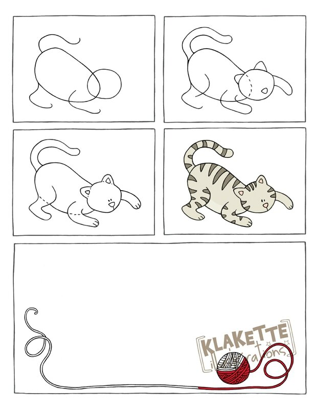 Page je dessine - un chat