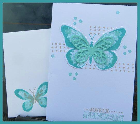 Carte Anniversaire Watercolor Wings Le Scrap De Milkinise