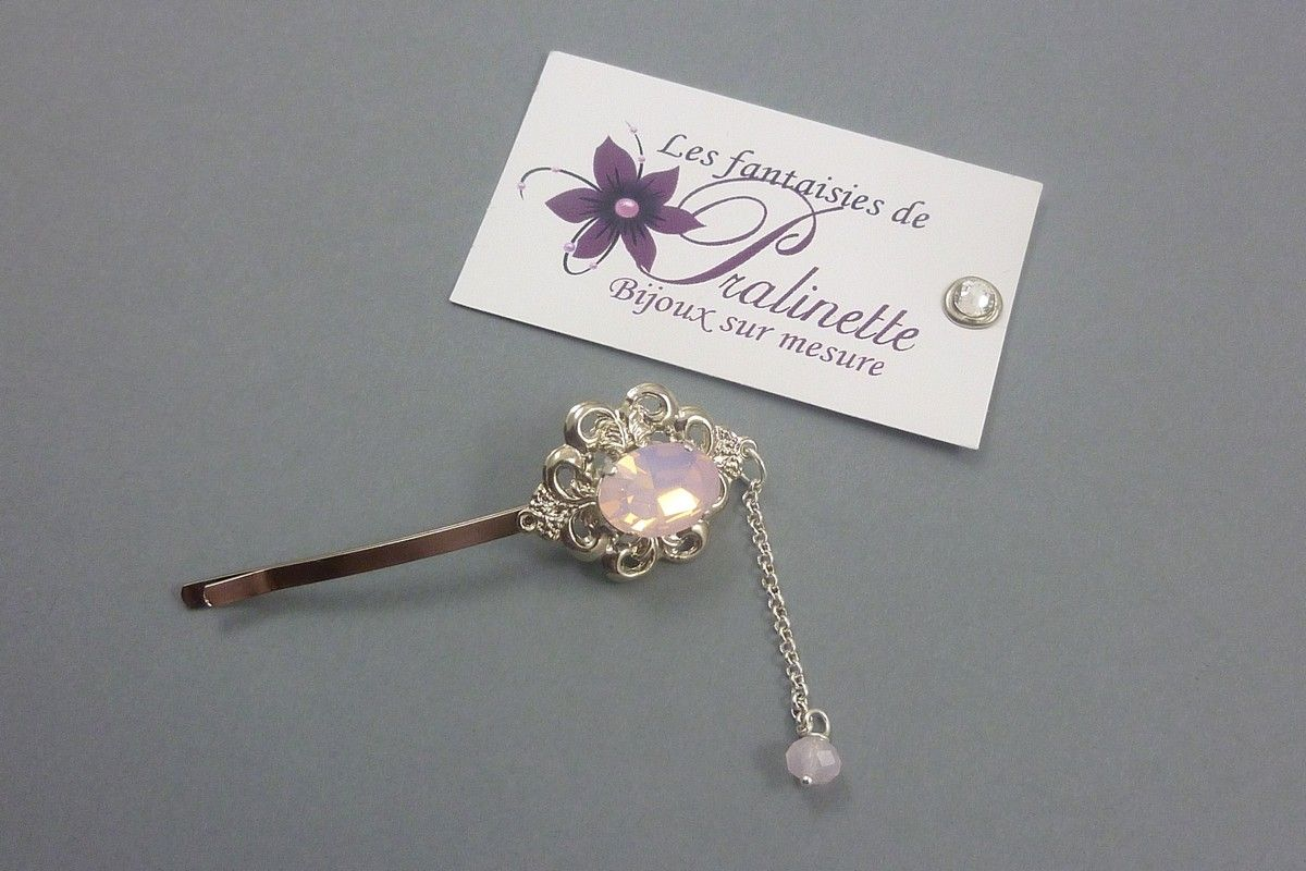 bijoux-pince-a-cheveux-mariage-cabochon-rose-may