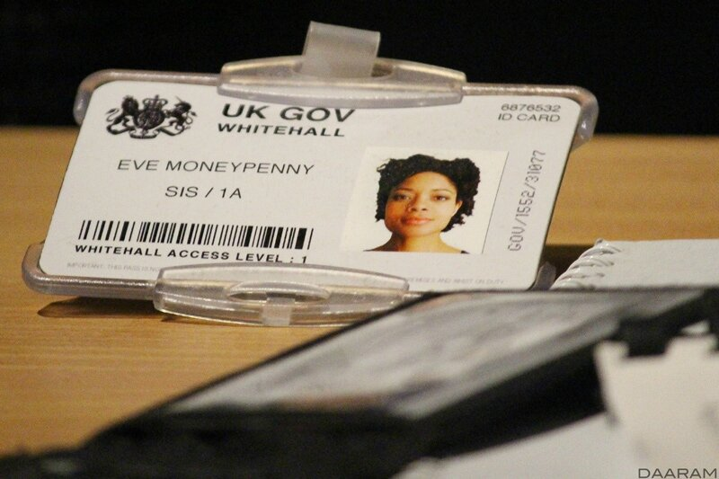 Eve Moneypenny's ID card (played by Naomie Harris). Photo: Olivier Daaram Jollant © 2016