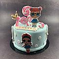 Gâteau poupées lol pour les 7 ans de marion