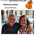 Récital poésie et chansons de guy allix et gérard mottet à montreuil-sur-epte le 29 mars 2019