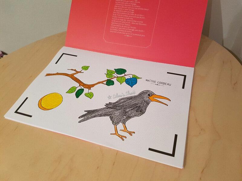 cahier animé corbeau renard