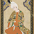 Young prince, mid-16th century. signed by muhammad haravi, safavid period. herat, afghanistan