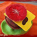 Felt food : hamburger en feutrine