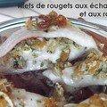 Filets de rougets aux échalotes et aux raisins