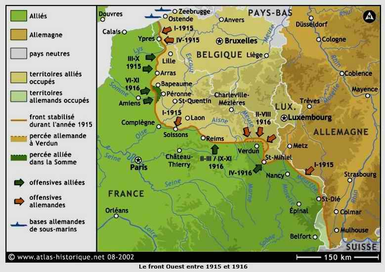 Front ouest 1915-1916